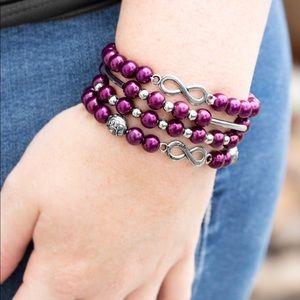 Jewelry - Infinity Purple Stretchy Bracelets